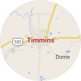 Map Timmins